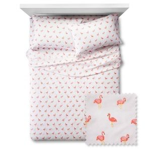 NEW Pillowfort Flamingos Sheet Set, Full